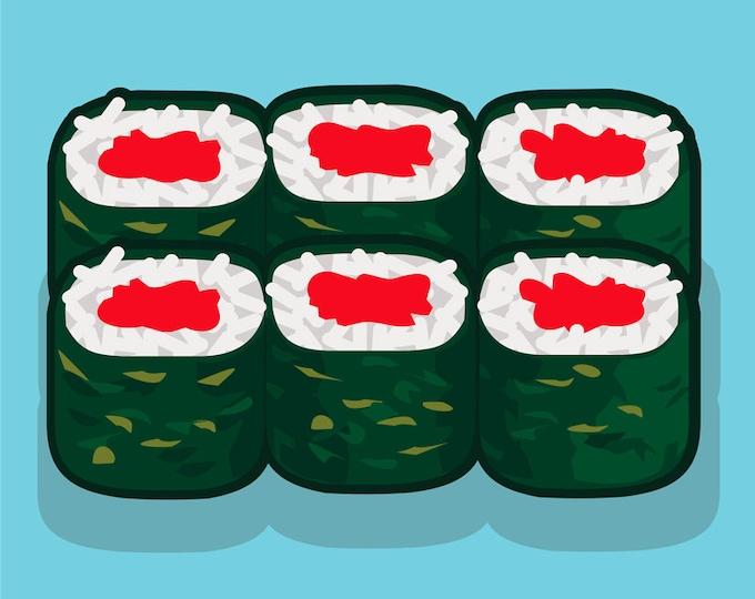 Sushi clip art- sushi menu art, sushi rolls illustrations, maki, Japanese restaurant, menu art, royalty free clip art, INSTANT DOWNLOAD