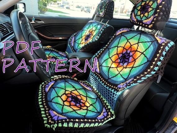 Vibrant Crochet Seat Covers Pdf Pattern Etsy