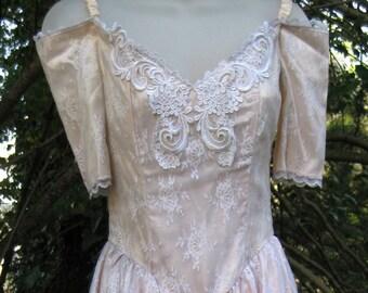 Colonial robe de bal de style des années 1980 taille 3 Belle du Sud, des années 80 des années 1980 robe de cocktail de dames Jessica McClintock de Gunne Sax robe