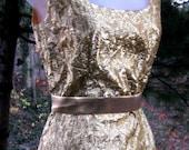 XS GOLD dress, gold lame dress WIGGLE dress from Marilyn Monroe Era w cocktail party jacket, metallic yellow gold dress, gold formal dress
