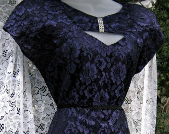 80 s petite robe de bal, robe en dentelle mauve, robe de soirée COCKTAIL, robe formelle de dames, robe de soirée des années 80 des années 1980, robe de cocktail