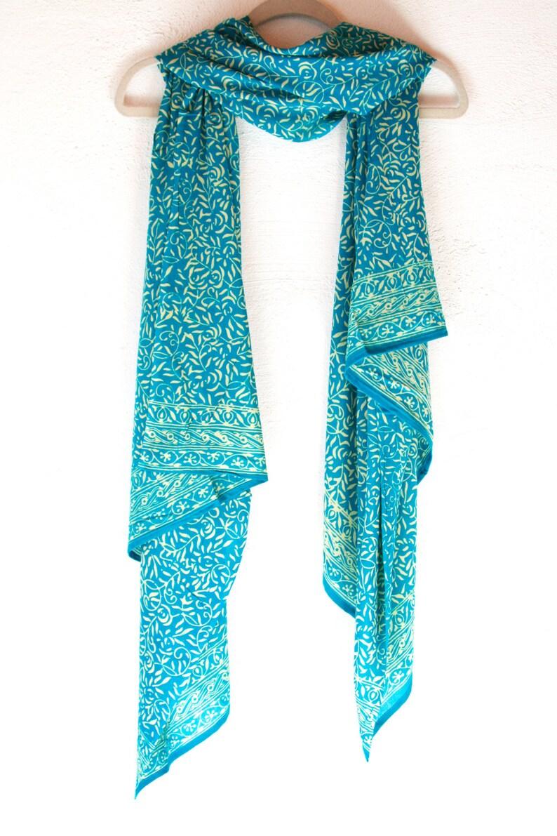 0ab4aaf19fe1b Turquoise Chiffon Scarf Women's Fashion Accessory Soft | Etsy