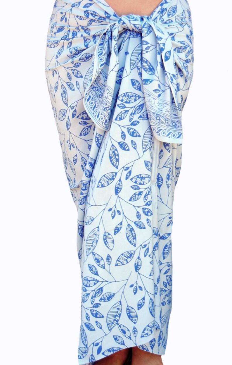 313892b3ce White Beach Sarong Wrap Skirt Batik Pareo Batik Sarong | Etsy