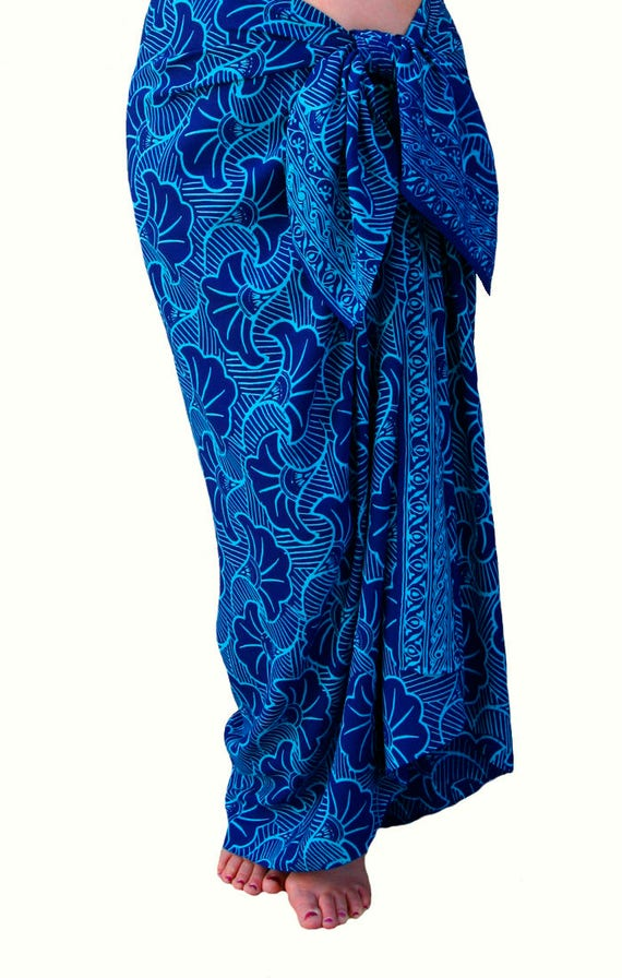 Beach Sarong Hawaiian Pareo Wrap Skirt Womens Or Mens
