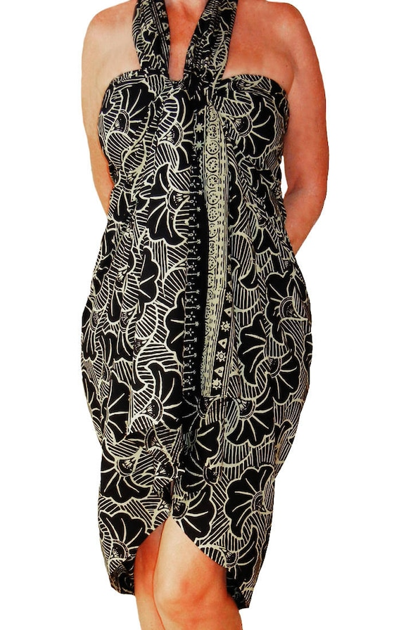 Plus Size Sarong Dress Or Skirt Womens Beach Clothing Etsy