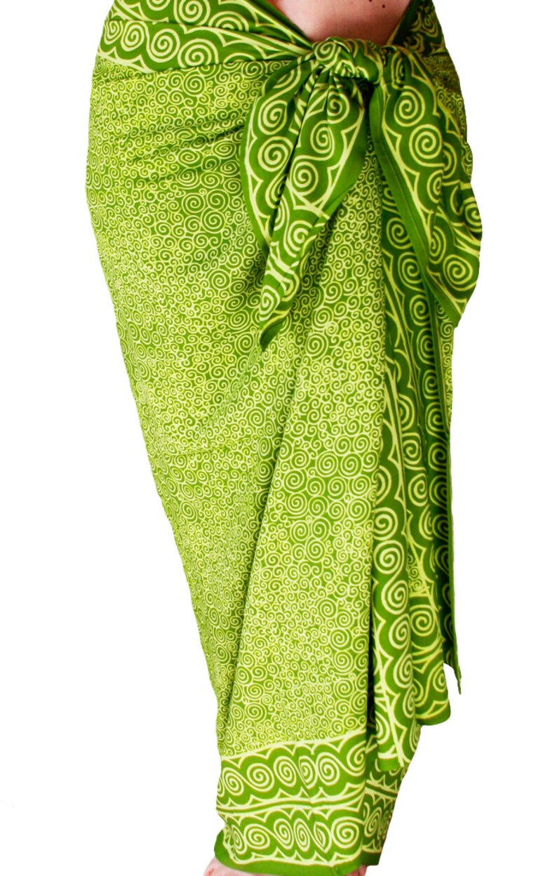 0b7c588575 Beach Sarong Wrap Skirt Chartreuse Green Beach Cover Up | Etsy