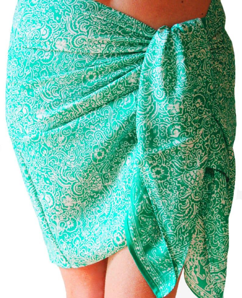 d823bf6fc8 Beach Sarong Skirt Women's Clothing Short Batik Sarong | Etsy