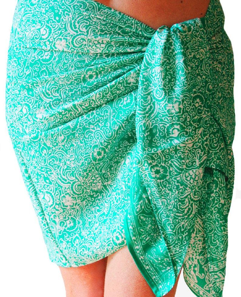 93c8bd9b54e74 Beach Sarong Skirt Women's Clothing Short Batik Sarong | Etsy