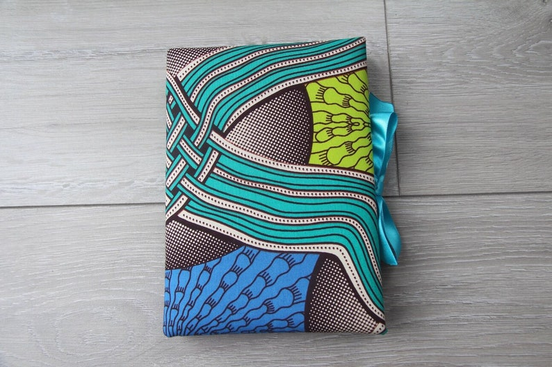 African Print Padded Journal with Matching Blue Ribbon, University  Stationary, College Diary, School Jotter, Student Gift, Present for Her