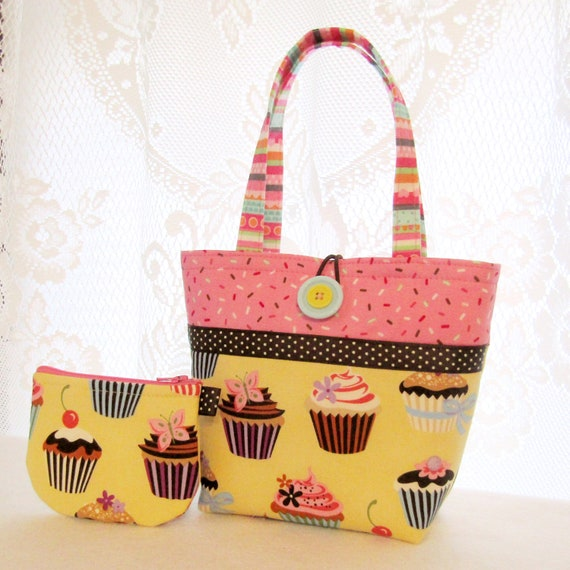Cupcakes Sweet Treats Cute Kids Purse Little