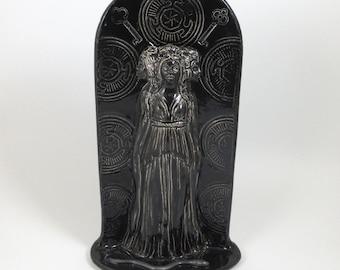 Greek Goddess Hecate Hekate  Statue Sculpture Handmade Sculpture