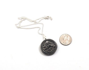 Greek Goddess Hekate Hecate's Hound amulet Pendant Pottery