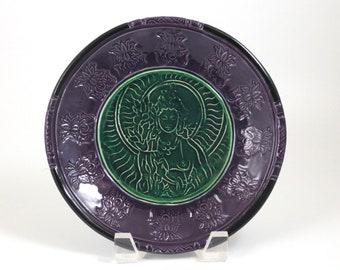 Goddess Tara  Raku Offering Bowl Handmade Ceramic Pottery