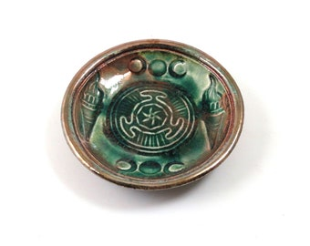 Greek Goddess Hecate Hekate's Wheel Offering Bowl