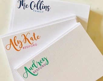 Personalized Stationery, Notecard, Thank You Note Set