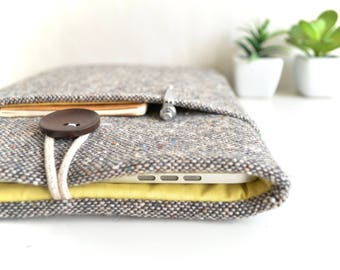 "Brown Wool Laptop Case 15.6"" Laptop Sleeve 15 inch MacBook Pro Sleeve 15.4"" Touch Bar MacBook Case 15"" Laptop Sleeve 14 inch Laptop Case"