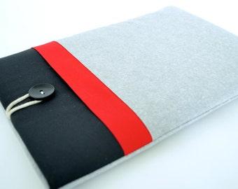 "12.9"" iPad Pro Case, iPad Air, iPad 10.2 8th Generation, Tablet Sleeve - Red Color Block"