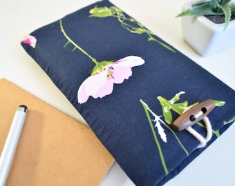 Floral iPhone Sleeve, Padded Fabric Phone Sleeve - Whimsical Flower