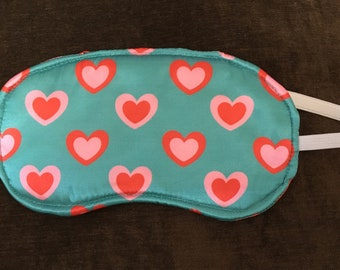 Concentric Hearts Sleep Mask