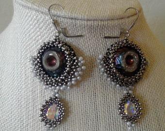 Blue Shimmer Earrings