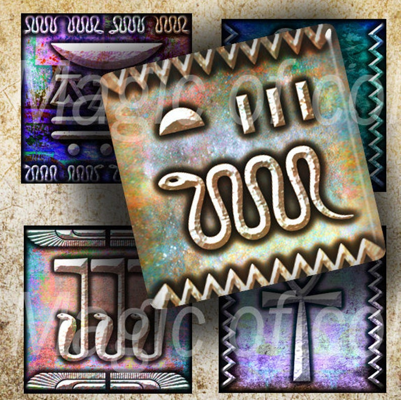 Gears and Chains Digital  Collage Sheet 63  1x1 Inch Square JPG images