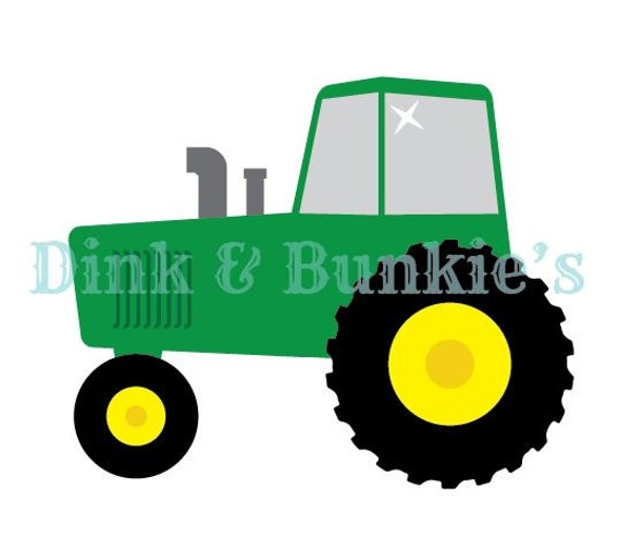 tractor svg dxf die cutter template etsy