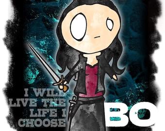 PRINT -- BO - Lost Girl Character Illustration