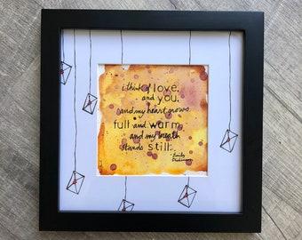 "EMILY DICKINSON - Illustrated Poem 8"" x 8"" Frame"