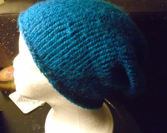 760a6c57592 Blue Lamb s Wool hand-knitted Winter Wear Hat Beanie Watch Cap Adult one  size fits most