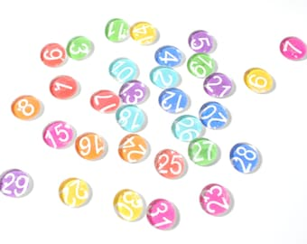 SMALL - 31 number magnet or push pin set, 2018 perpetual calendar, back to school, organize, teacher, calendar, organize your space, family