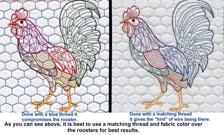 Machine Embroidery Design-Chicken wire with Several sizes and ...