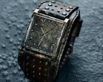 WATCHES - Steampunk wristwatch - Leather watch - Mens wrist watches Leather wristwatch Steampunk watch Women watch Wrist watch Vintage watch