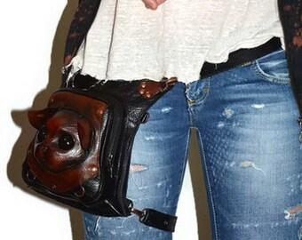 79b4c9781fc Steampunk belt bag | Etsy