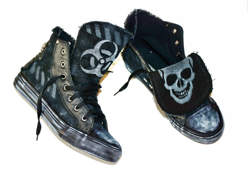 2a2333d2932cd BIOHAZARD CUSTOM SNEAKERS / Personal order / Mad Max
