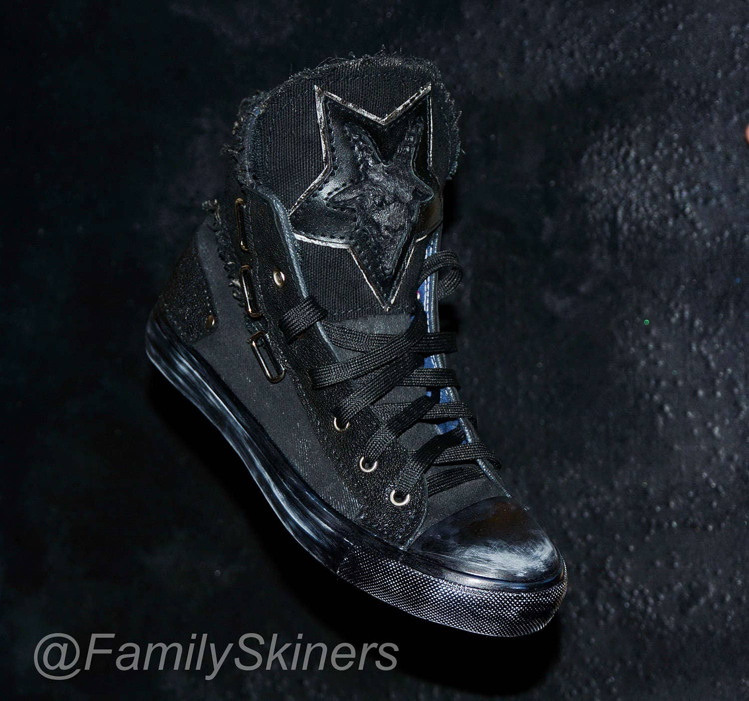 GOTHIC CUSTOM / SNEAKERS / Personal order / CUSTOM Gothic shoes - Wicca - Baphomet - Demon - Wiccan Pagan Occult Esoteric Inverted pentagram - Witch 2a5f04