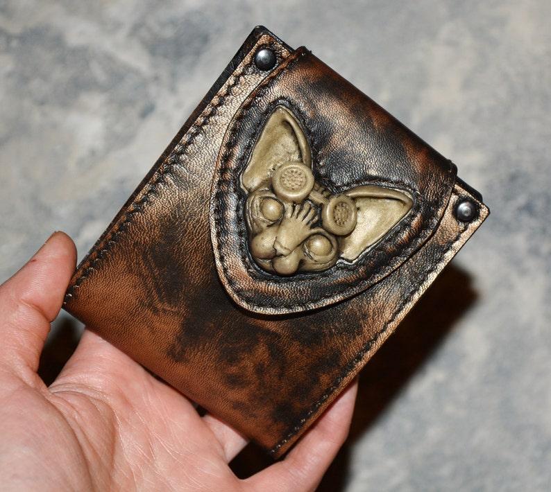 22748e799e9c20 Steampunk Leder Brieftasche Leder Geldbörse Custom | Etsy