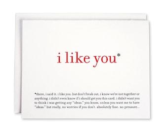 Printable / Funny Love Card / I Like You Valentine Card
