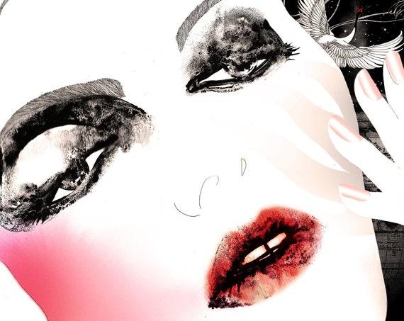Limited edition signed prints // Fashion illustration art print // Art poster // Voyage privé 1