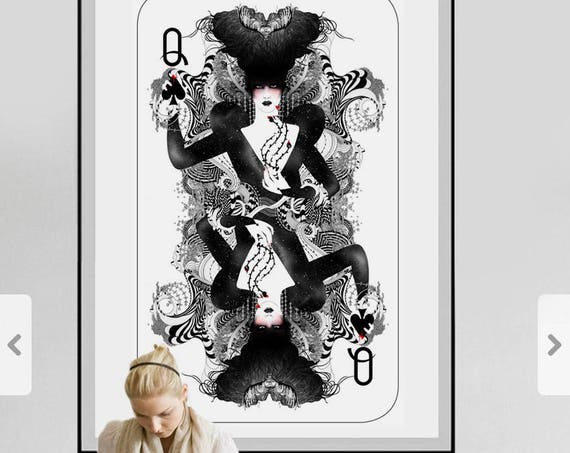 The Queen of Spades // Gothic & victorian style art // Sophisticated Limited edition art print