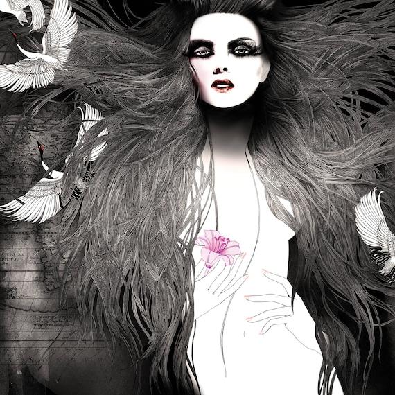 Voyage Privè 3 // Fashion illustration art print