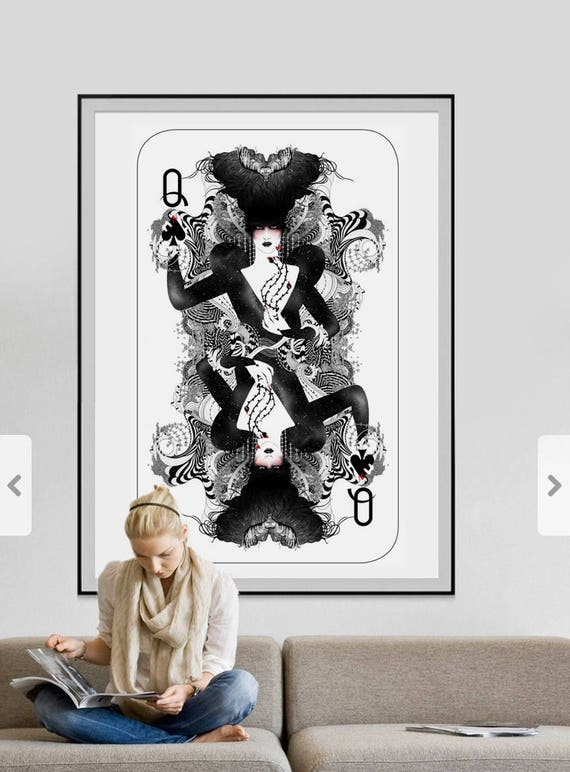 The Queen of Spades // Limited edition art print