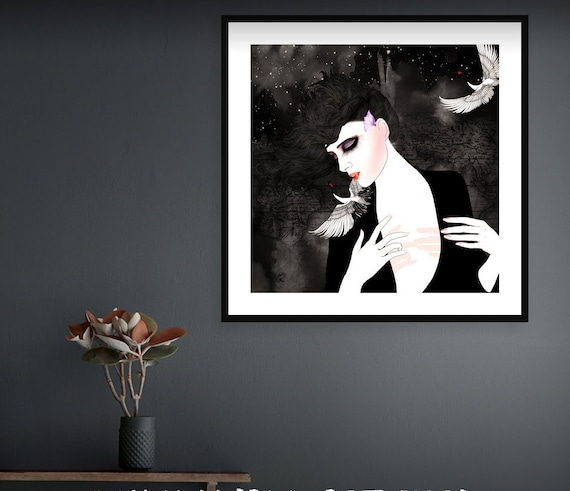 Fashion illustration art print // Voyage privé 4