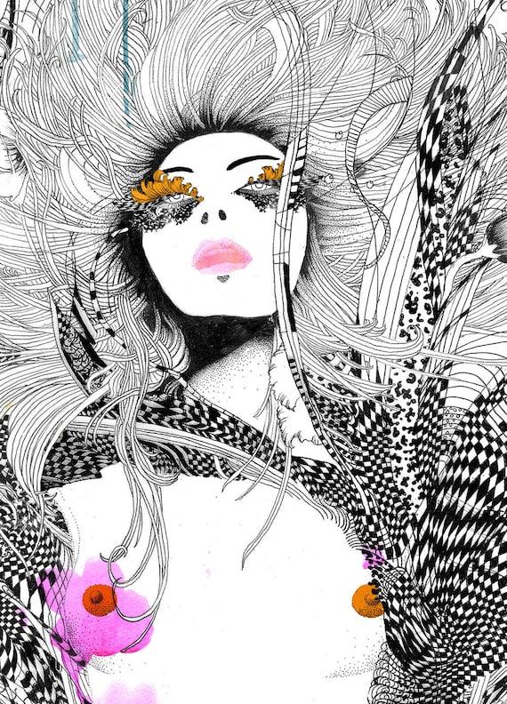 Limited Edition Fashion Illustration Art Print // Revolution Seventy