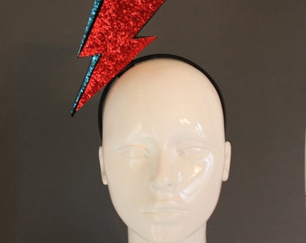 David Bowie tribute lightning bolt headband Aladdin Sane