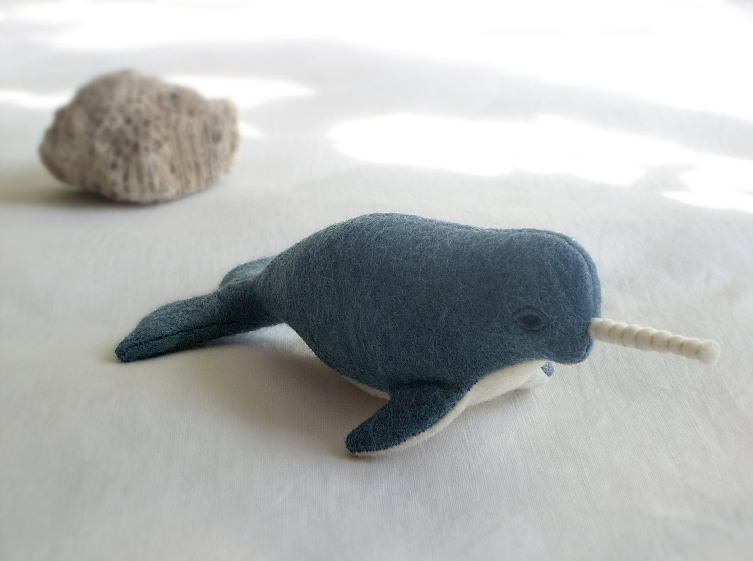 Eco-friendly Narwhale Narval Soft Sculpture / Plush Toy | Etsy