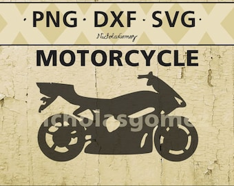Motorcycle silhouette clipart - DIGITAL DOWNLOAD - png files - dxf files - svg files -cut files - scrapbooking - stencil - stencils art