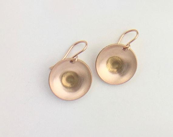 14K Rose Gold Fill Drop Earrings