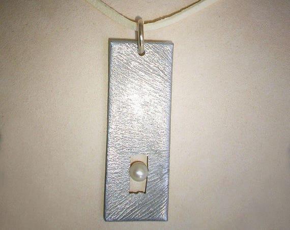 Lumina Reclaimed Aluminum & Pearl Pendant