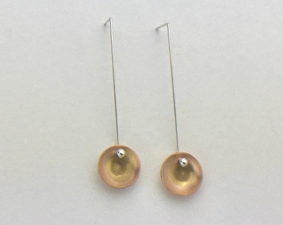Modern Drop Earrings with 14K gold fill & Sterling Silver