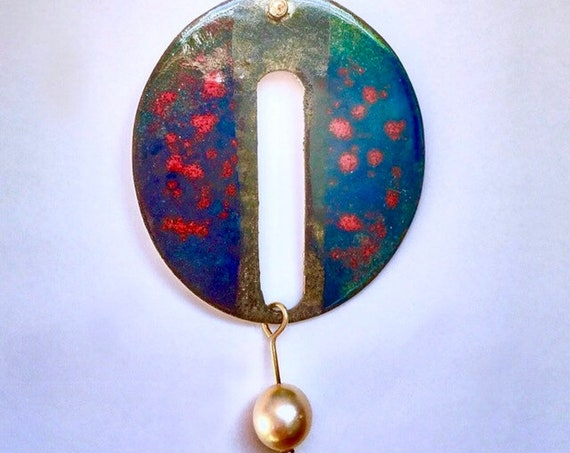 EnamelArt vitreous enamel necklace